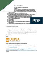 Proceso de Producción de Platano Paper