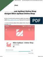 Membuat Aplikasi Online Shop