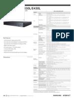 Spec Recorder Samsung HRD-E1630L DVR