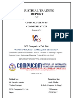 Industrial Training Report on Optical Fiber in Communication Acd to RTU,KOTA