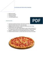 Receta de Masa de Pizza Sin Levadura