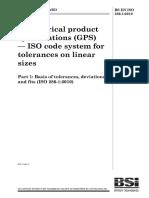 BS EN ISO 286-1-2010 ISO