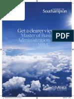 SBS MBA - Brochure 2017