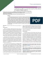 Evalution of Prebiotics and Probiotics
