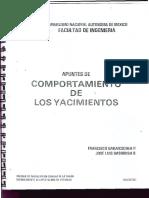 Apuntes de Comportamiento de Los Yacimientos Francisco Garaicochea P.