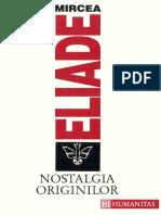 Mircea Eliade - Nostalgia originilor.pdf