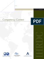 IHRDC Competency Content Brochure