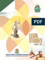 Legal Studies Text Book Class XII