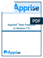 Apprise New Features in Version 7.5 (2)
