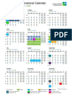 2018 Operational Calendar