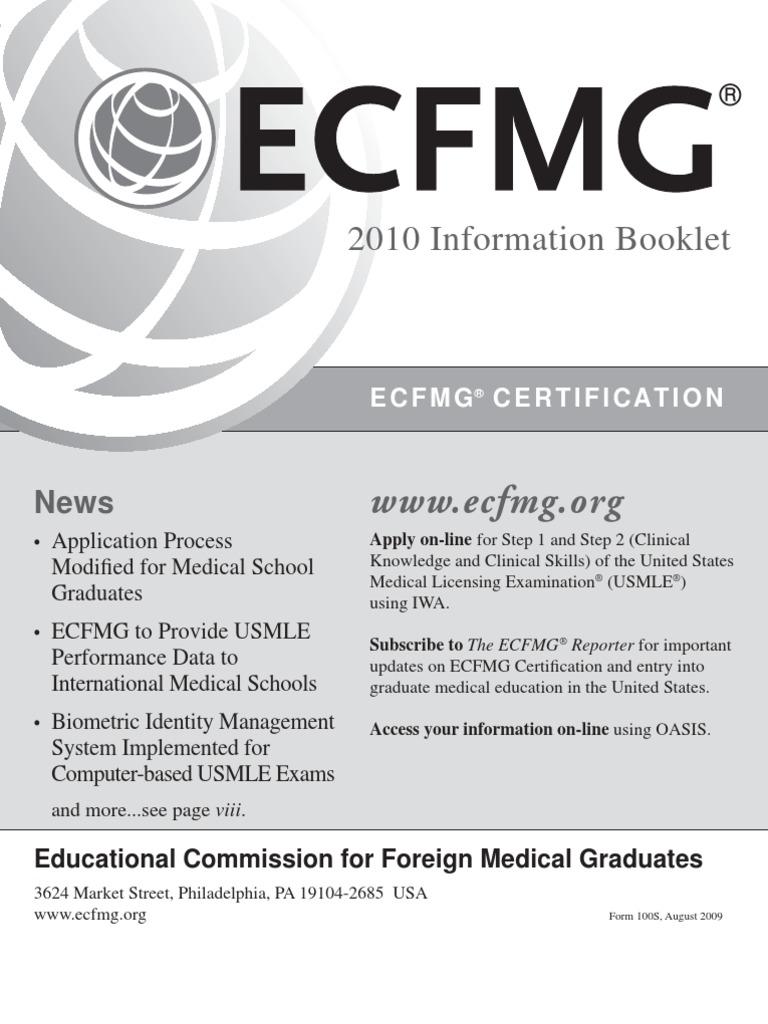 Ecfmg United States Medical Licensing Examination Medical School