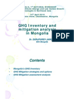 GHG Inventory and Mitigation Analysis in Mongolia