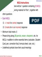 TME2134 Final Exam MCQ Instructions