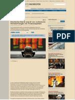 Deutsche Bank Warnt Vor Schweren Verwerfungen Im Finanzsystem - Dwn