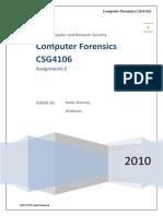 55347487 10137743 Computer Forensics Assignment 2