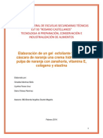 Elaboracion de Gel Exfoliante y Crema Hidratante