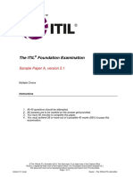 Sample a Axelos Itil Exam
