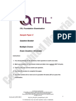 Sample c Axelos Itil Exam