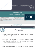 Presentation Companies Bill, 2016