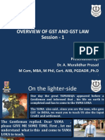 Basics on GST Law