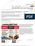 Patented Drug Launches Help MNCs Score Over Indian Peers - The Economic Times