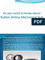 Know About Rubber Bellow Mechanical Seal