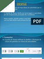 INTRUÇÃO MILITAR BÁSICA  - GUARDA DE HONRA -  DESFILE