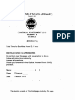P4 Science CA1 2015 Methodist Girls Exam Papers