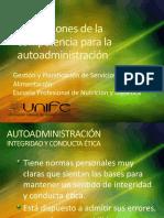 Dimensiones de La Competencia Para La Autoadministración