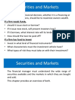 Securities and Markets