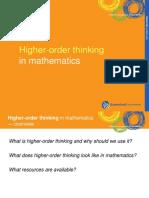 Higher Order Thinking in Mathematics