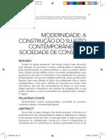 Modernidade; A Contrução do Sujeito Contemporâneo e a Sociedade de Consumo