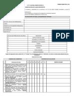 Pauta Observación Clases Semestral, 2013.