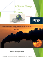 Impacts of Climate Change on Economy
