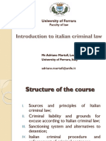Introduction to Italian Criminal Law 4