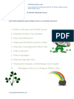 St Patricks Day B1 B2 Lesson