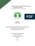 Impact of conflict between Salwa Judum and Naxalites on school education