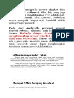Perbedaan Analgetik Dan Anestesi