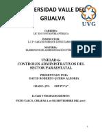 UNIDAD VI. CONTROLES ADMINISTRATIVOS DEL SECTOR PARAESTATAL.docx