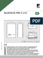 Manual Instrucciones BLUEHELIX PRO S 27 ErP