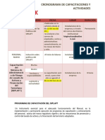 15 - Cronograma Capacitaciones