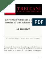 Scienza Bizantina e Latina - La nascita di una scienza europea. La musica
