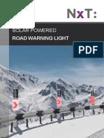 Solar powered road warning light - NxT