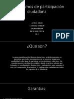 Mecanismos de Participación Ciudadana 10-1