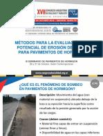 Medición del Potencial de Erosión_Presentación para CAVyT ¿QUÉ ES EL FENÓMENO DE BOMBEO EN PAVIMENTOS DE HORMIGÓN.pdf