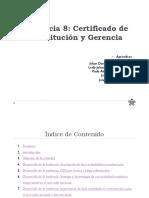 Evidencia 8 Certificado de Constitución y Gerencia