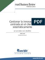 Gestionar La Innovacion Centrada en El Cliente