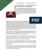 NOTA de PRENSA - Evento Literario en Zaragoza