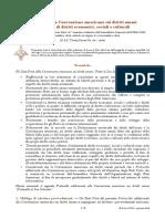Protocollo Addizionale Alla Convenzione Americana Sui Diritti Umani Nel Campo Dei Diritti Economici, Sociali e Culturali