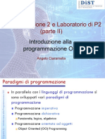 1 - Introduzione Alla Programmazione OO